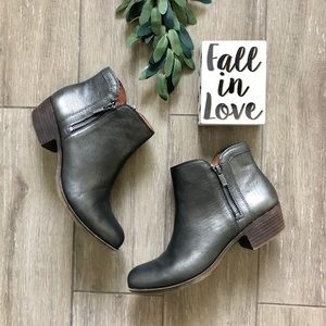 Lucky Brand Basel Metallic Ankle Boots